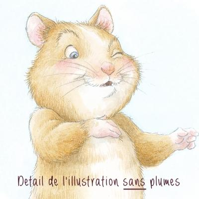 "Illustration 20 x 20 cm ""Calumet Hamster"" - photo détail"